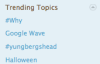 Twitter: trending topics don't roll up