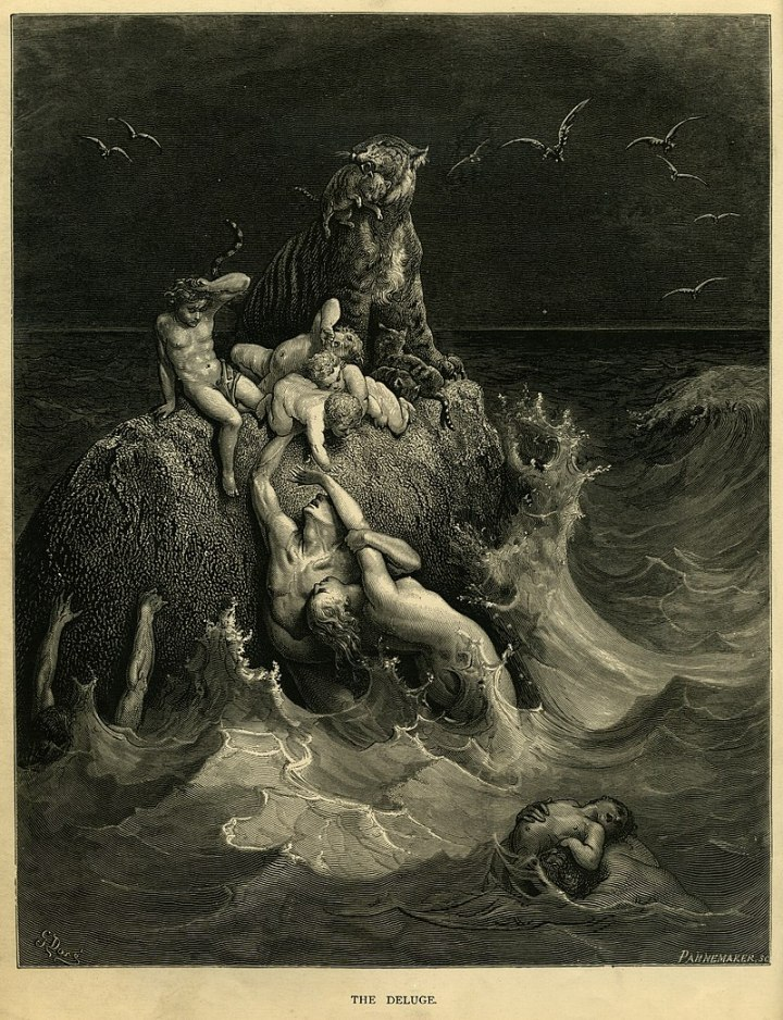 800px-Gustave_Doré_-_The_Holy_Bible_-_Plate_I,_The_Deluge